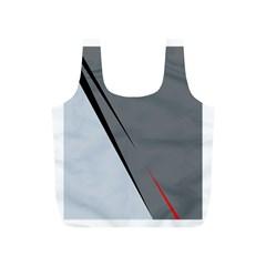 Elegant gray Full Print Recycle Bags (S)