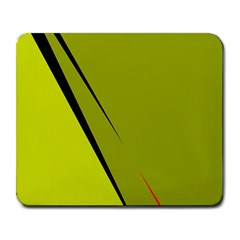 Yellow elegant design Large Mousepads
