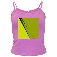 Yellow elegant design Dark Spaghetti Tank