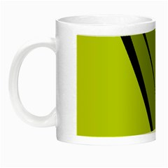 Yellow elegant design Night Luminous Mugs