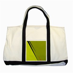 Yellow elegant design Two Tone Tote Bag
