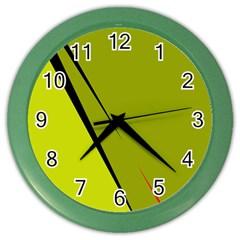Yellow elegant design Color Wall Clocks
