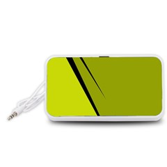 Yellow elegant design Portable Speaker (White)