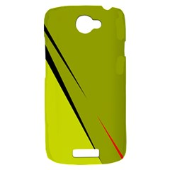Yellow elegant design HTC One S Hardshell Case