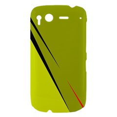Yellow elegant design HTC Desire S Hardshell Case