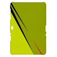 Yellow elegant design Samsung Galaxy Tab 10.1  P7500 Hardshell Case