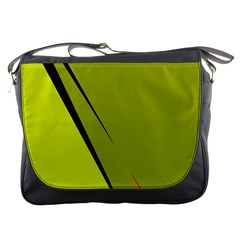 Yellow elegant design Messenger Bags