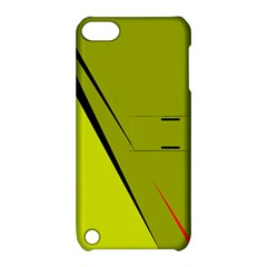 Yellow elegant design Apple iPod Touch 5 Hardshell Case with Stand
