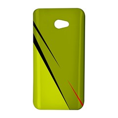 Yellow elegant design HTC Butterfly S/HTC 9060 Hardshell Case