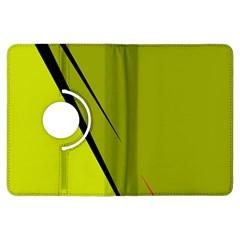 Yellow elegant design Kindle Fire HDX Flip 360 Case