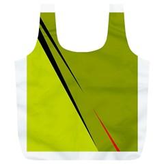 Yellow elegant design Full Print Recycle Bags (L)