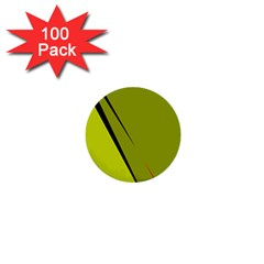 Yellow elegant design 1  Mini Buttons (100 pack)