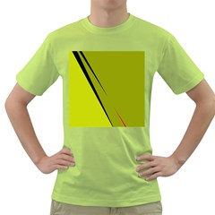Yellow elegant design Green T-Shirt