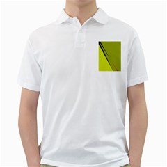 Yellow elegant design Golf Shirts