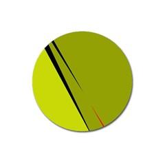 Yellow elegant design Magnet 3  (Round)