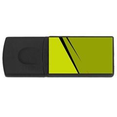 Yellow elegant design USB Flash Drive Rectangular (1 GB)