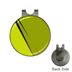 Yellow elegant design Hat Clips with Golf Markers