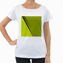 Yellow elegant design Women s Loose-Fit T-Shirt (White)