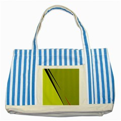 Yellow elegant design Striped Blue Tote Bag