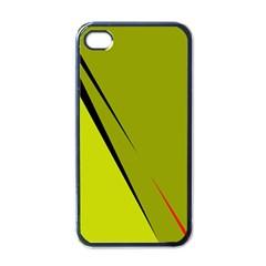 Yellow elegant design Apple iPhone 4 Case (Black)