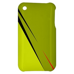 Yellow elegant design Apple iPhone 3G/3GS Hardshell Case