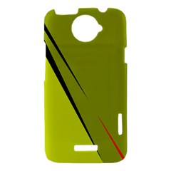 Yellow elegant design HTC One X Hardshell Case