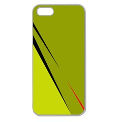 Yellow elegant design Apple Seamless iPhone 5 Case (Clear)