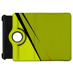Yellow elegant design Kindle Fire HD Flip 360 Case