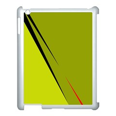 Yellow elegant design Apple iPad 3/4 Case (White)