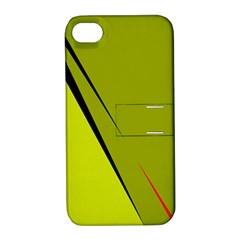 Yellow elegant design Apple iPhone 4/4S Hardshell Case with Stand