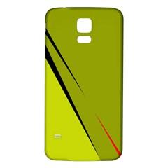 Yellow elegant design Samsung Galaxy S5 Back Case (White)