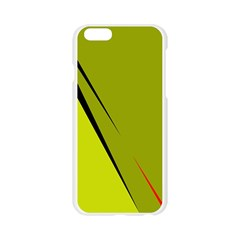 Yellow elegant design Apple Seamless iPhone 6/6S Case (Transparent)