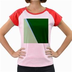Green design Women s Cap Sleeve T-Shirt