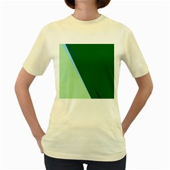 Green design Women s Yellow T-Shirt