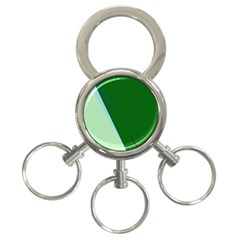 Green design 3-Ring Key Chains