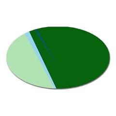 Green design Oval Magnet