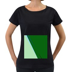 Green design Women s Loose-Fit T-Shirt (Black)