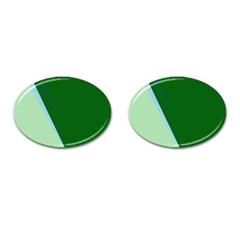 Green design Cufflinks (Oval)