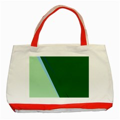 Green design Classic Tote Bag (Red)