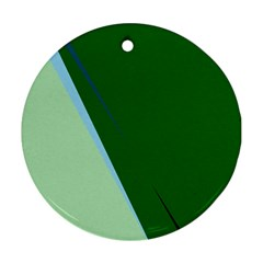 Green design Round Ornament (Two Sides)