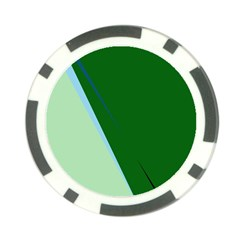 Green design Poker Chip Card Guards (10 pack)