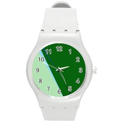 Green design Round Plastic Sport Watch (M)
