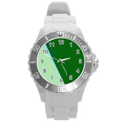 Green design Round Plastic Sport Watch (L)