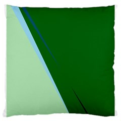 Green design Large Cushion Case (One Side)