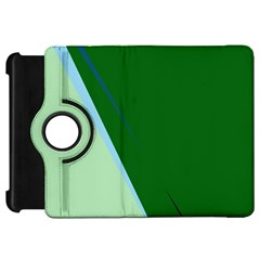 Green design Kindle Fire HD Flip 360 Case