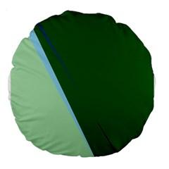 Green design Large 18  Premium Round Cushions