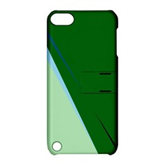 Green design Apple iPod Touch 5 Hardshell Case with Stand