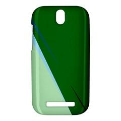 Green design HTC One SV Hardshell Case