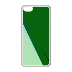 Green design Apple iPhone 5C Seamless Case (White)