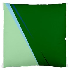 Green design Large Flano Cushion Case (Two Sides)